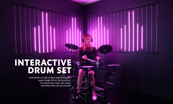 Interactive drum